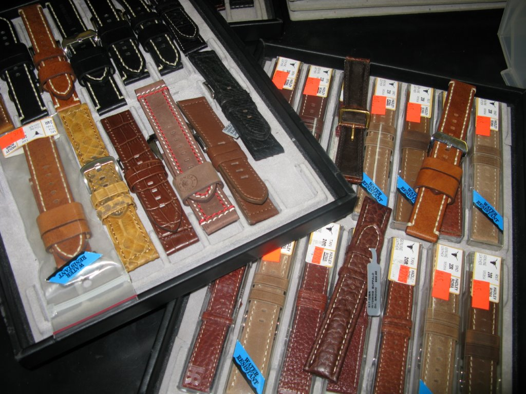 LARGE SELECTION OF WATCH BANDS - from basic to exotic skins