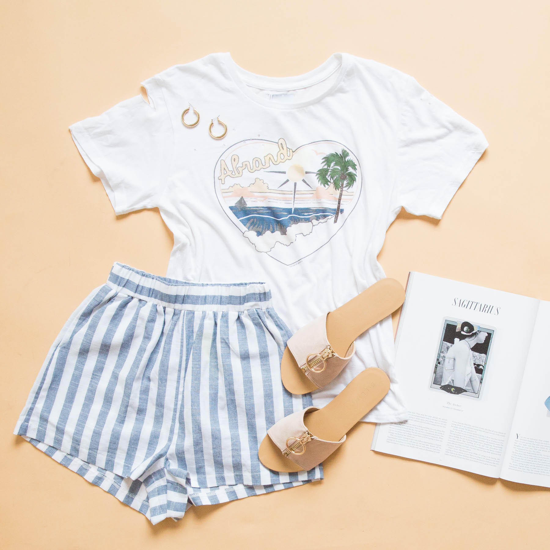 Arianna Short blue stripe, A 94 Slim Tee, mimi slide blush suede 2.jpg