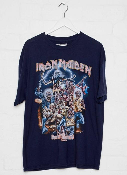 Vintage Band Tee - Iron Maiden - Navy