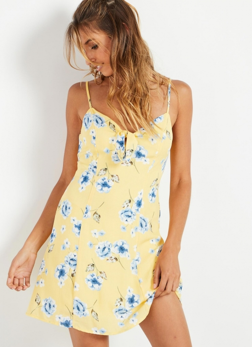 Valley Dress - Yellow Floral