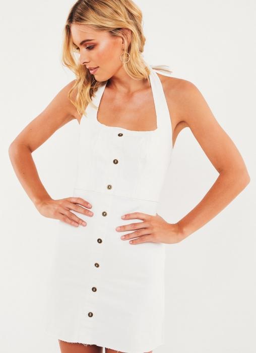 Universal Dress - White Denim