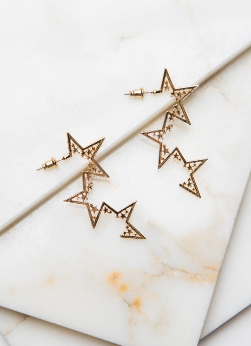 Star Earrings - Gold