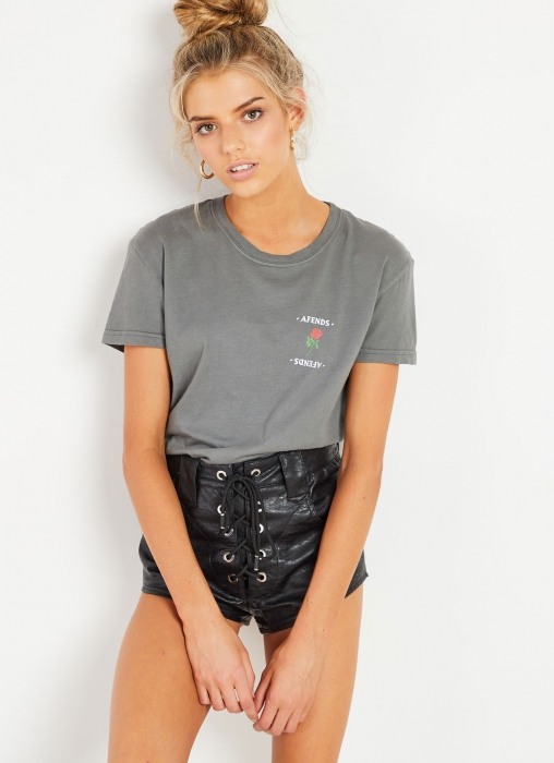 Afends - What You Want Tee, Distressed Black