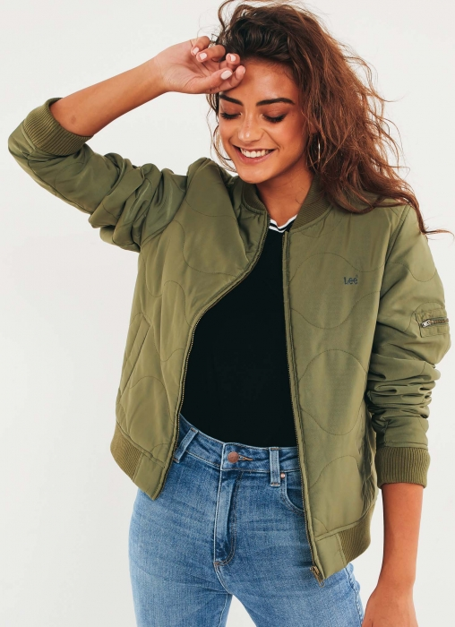 Lee - Quilted Bomber Jacket