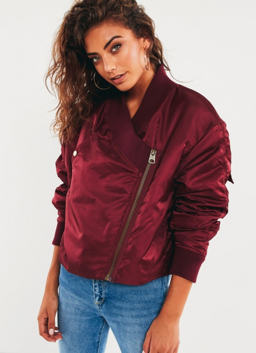 Delusion Bomber Jacket - Blood Red
