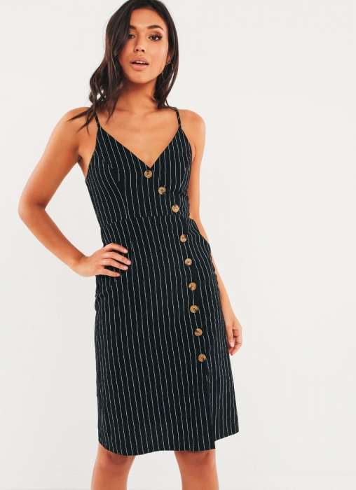 Noxon Dress - Black Stripe