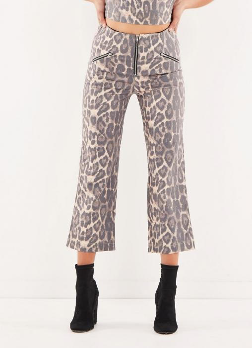 Leopard Zip Pants