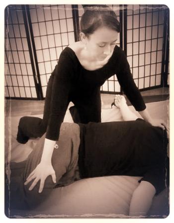 Embodied Therapeutics Shiatsu Session Side Stretch