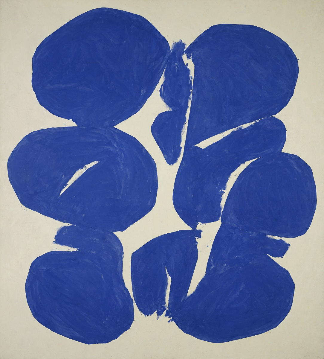 """"""" Blue Meun"""" from 1967, oil on canvas, 96 1/2 x 87 inches Courtesy of Paul Rodgers / 9W Gallery"""
