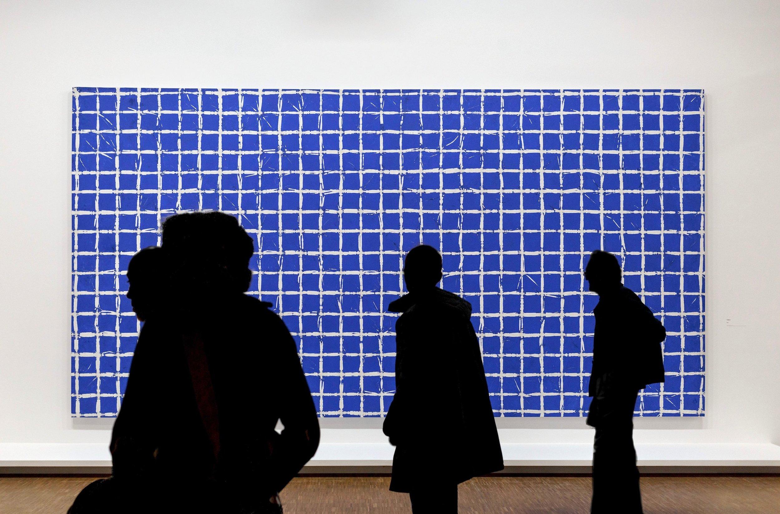 Simon Hantaï (1922-2008). Tabula , 1974, acrylic on canvas, 118.13 x 226 inches. Collection Musée national d'art moderne, Centre Georges Pompidou, Paris.
