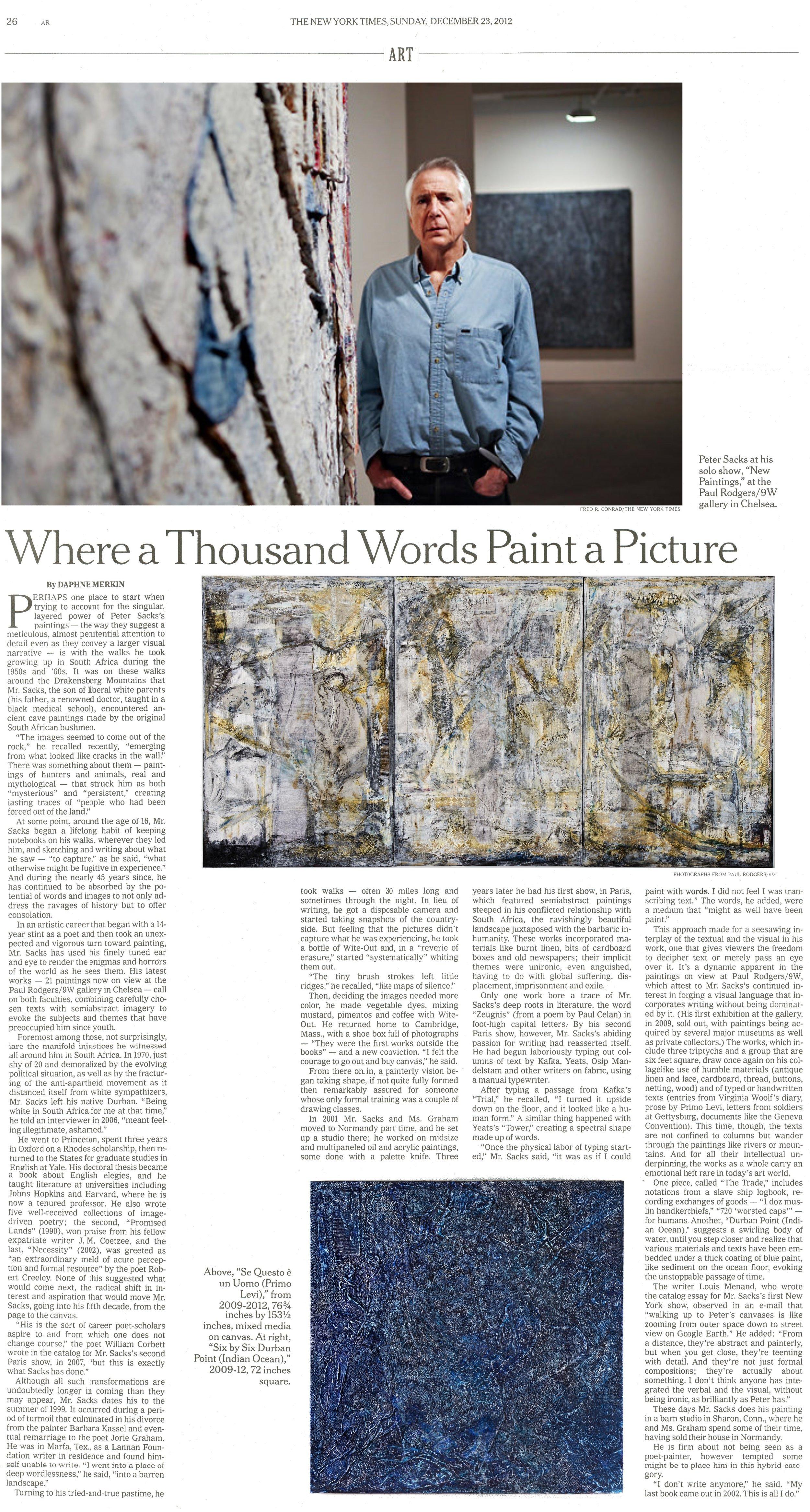 Peter Sacks New York Times Daphne Merkin
