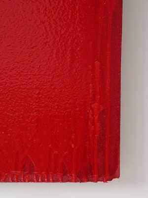 Joseph Marioni,  Red   Painting  (Detail), 2006. Von der Heydt-Museum, Wuppertal