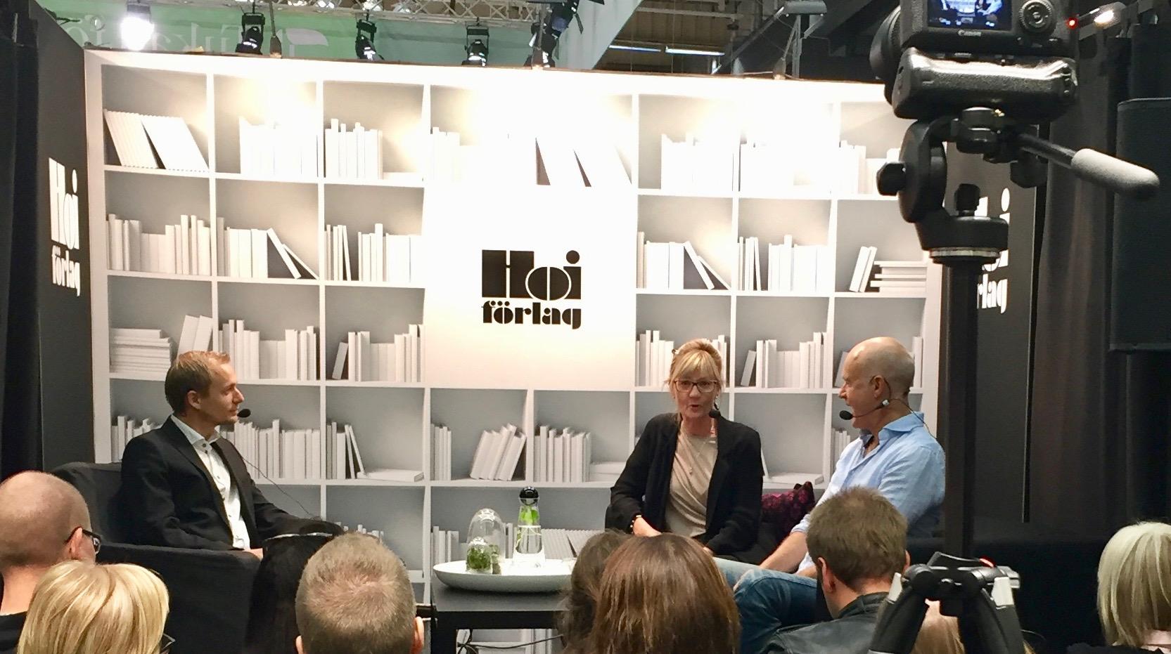 Kerstin Andersson och Stefan Sauk pratar ljudböcker