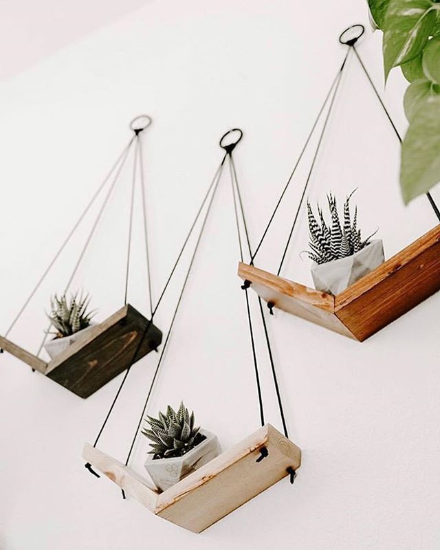 Are you looking for some ideas, as to where to place our Succulent Containers? Well here are some that we thought you might love!  These beautiful hanging shelves are made by @bijouxluandco go check them out if you haven't yet and tell us what you think in the comments below 👇🏼 www.GeometricFossils.com