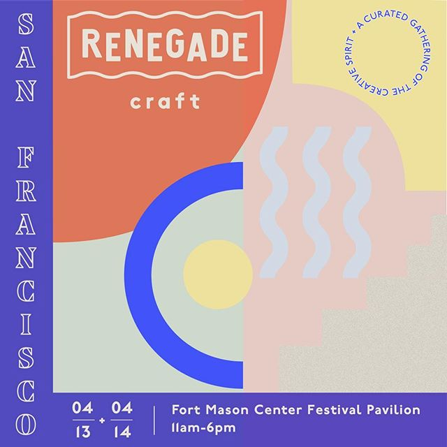 Bay area, come by and get your shopping on!  See and experience why Renegade Craft is one of the best-curated craft shows.  Shop over 250 local and national makers, craft cocktails, beer garden, Food Trucks, DJ sets, workshops and more.  Free to attend and all are welcome.
