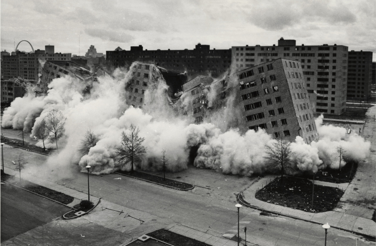 Destroyed in a dramatic and highly-publicized implosion, the Pruitt-Igoe public housing complex has become a widespread symbol of failure amongst architects, politicians and policy makers. The next time the city changes, remember Pruitt-Igoe.