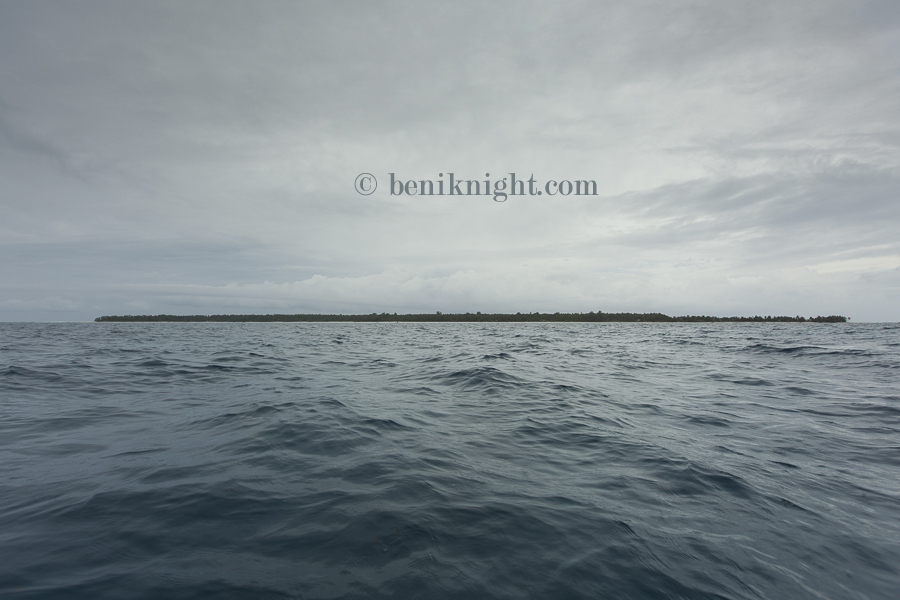 Islands are perched a mere 1-2 metres above sea-level. Pelau Island (pop:800)