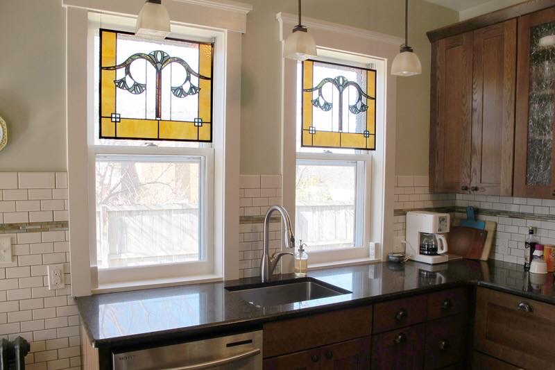 stained glass upvc sash windows