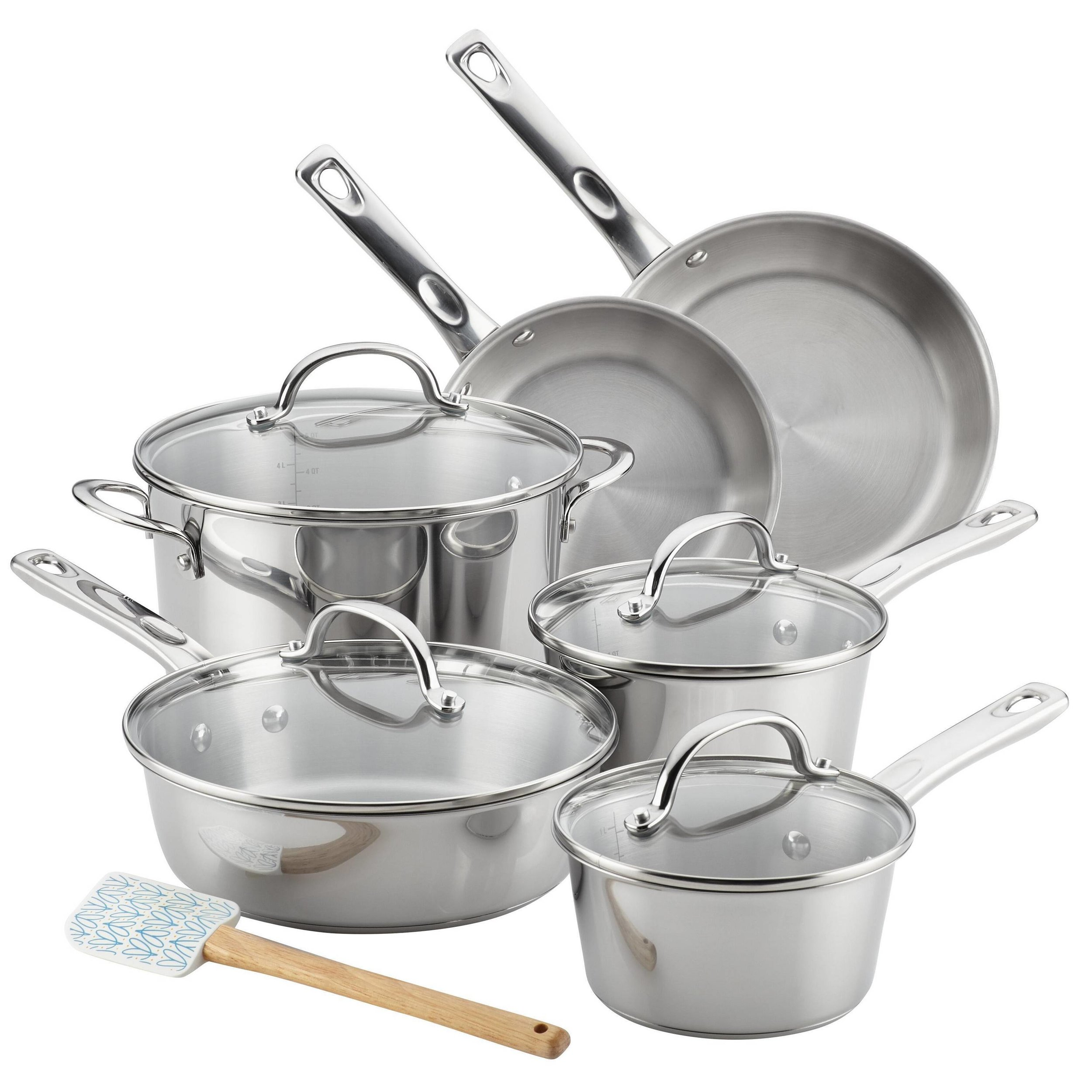 Ayesha Curry 11pc Stainless Steel Cookware