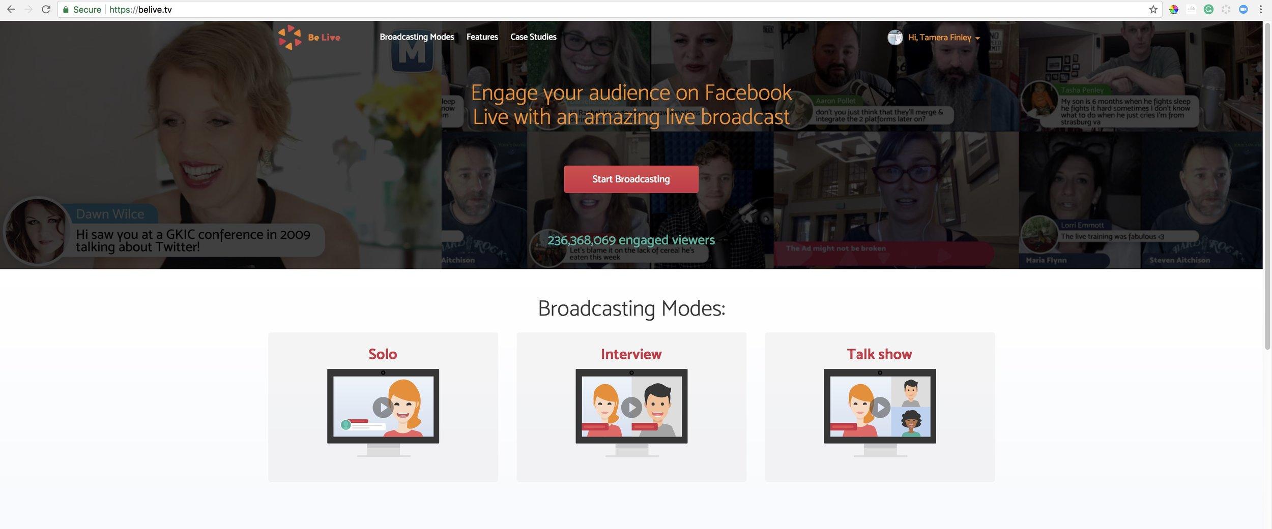 BeLive TV for webhosting