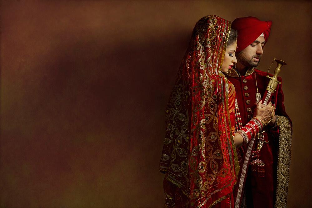 2.2.3.3. Sikh Wedding Day Shoot Portrait Couple - Southall Gurdwara.jpg