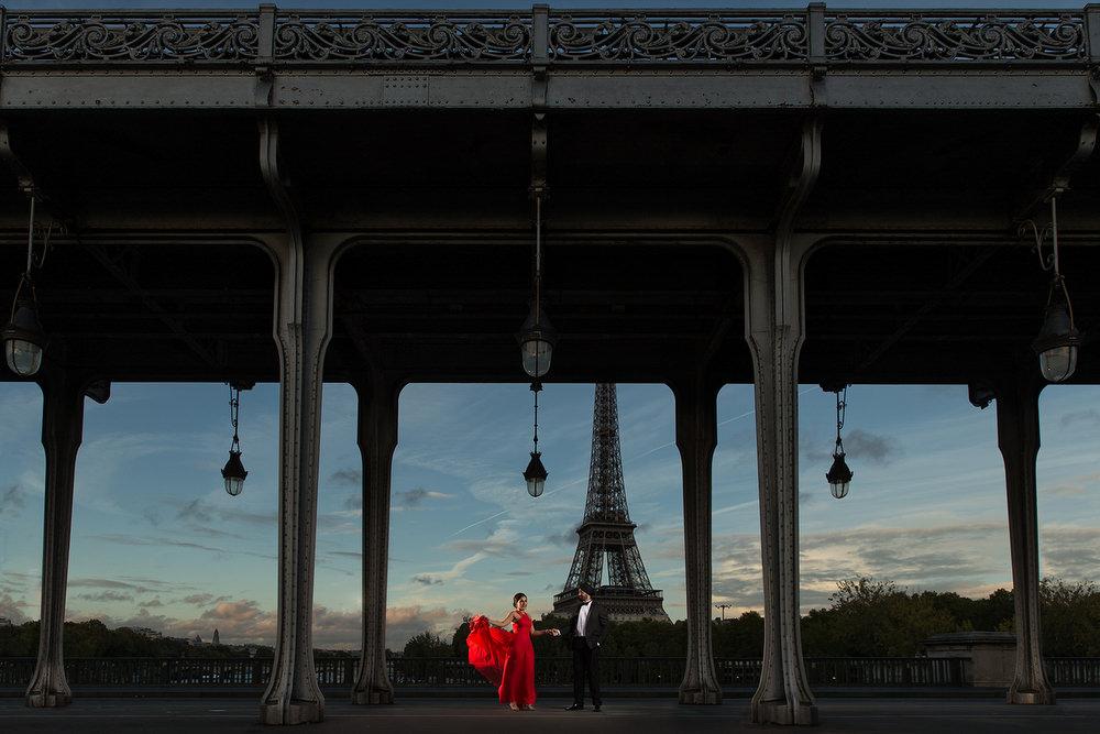 6. Paris Pre Wedding Anniversary Pre Wedding Engagement Shoot - Bir Hakeim, Eiffel Tower., Inception Bridge.jpg