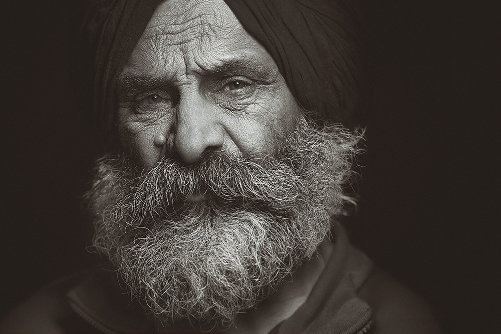 Dad portrait fathers day mothers day sikh man father