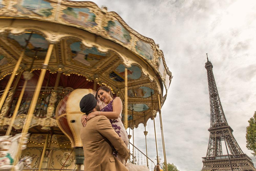3. Paris Pre Wedding Anniversary Pre Wedding Engagement Shoot  - Eiffel Tower, Carousel.jpg