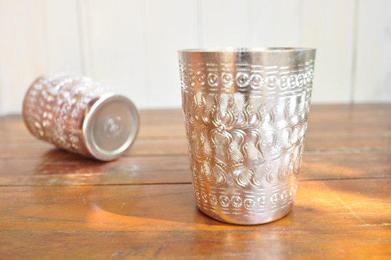 Gorgeous pressed aluminium cups from  Thaihomeware