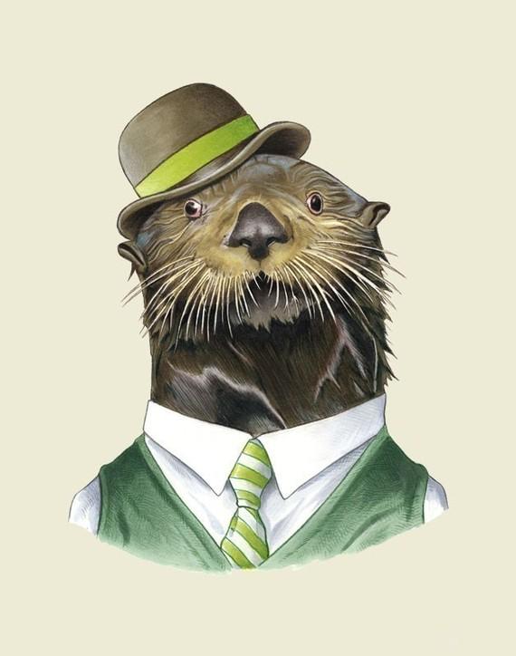 Berkley Illustration Sea Otter Print