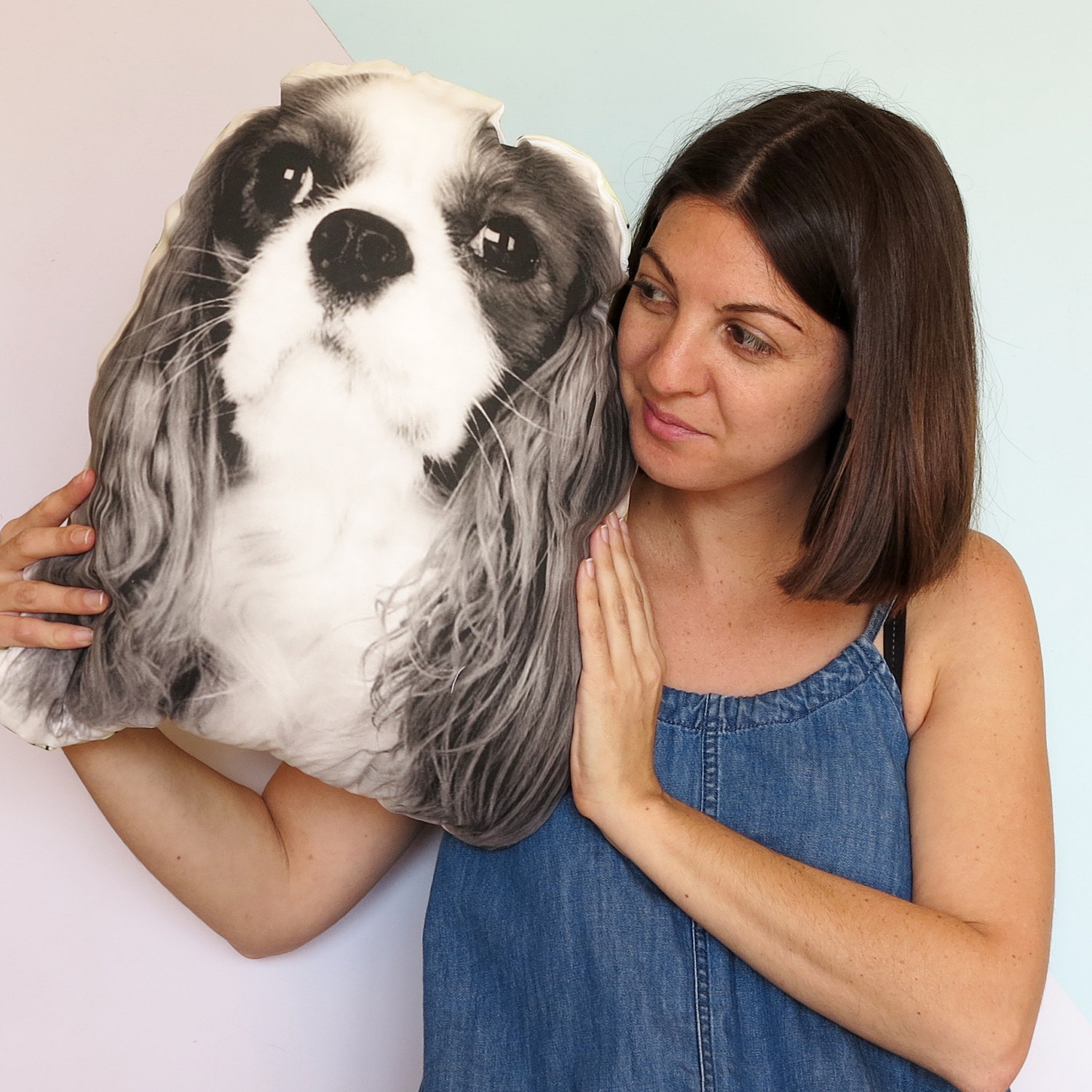 Double L King Charles Cushion