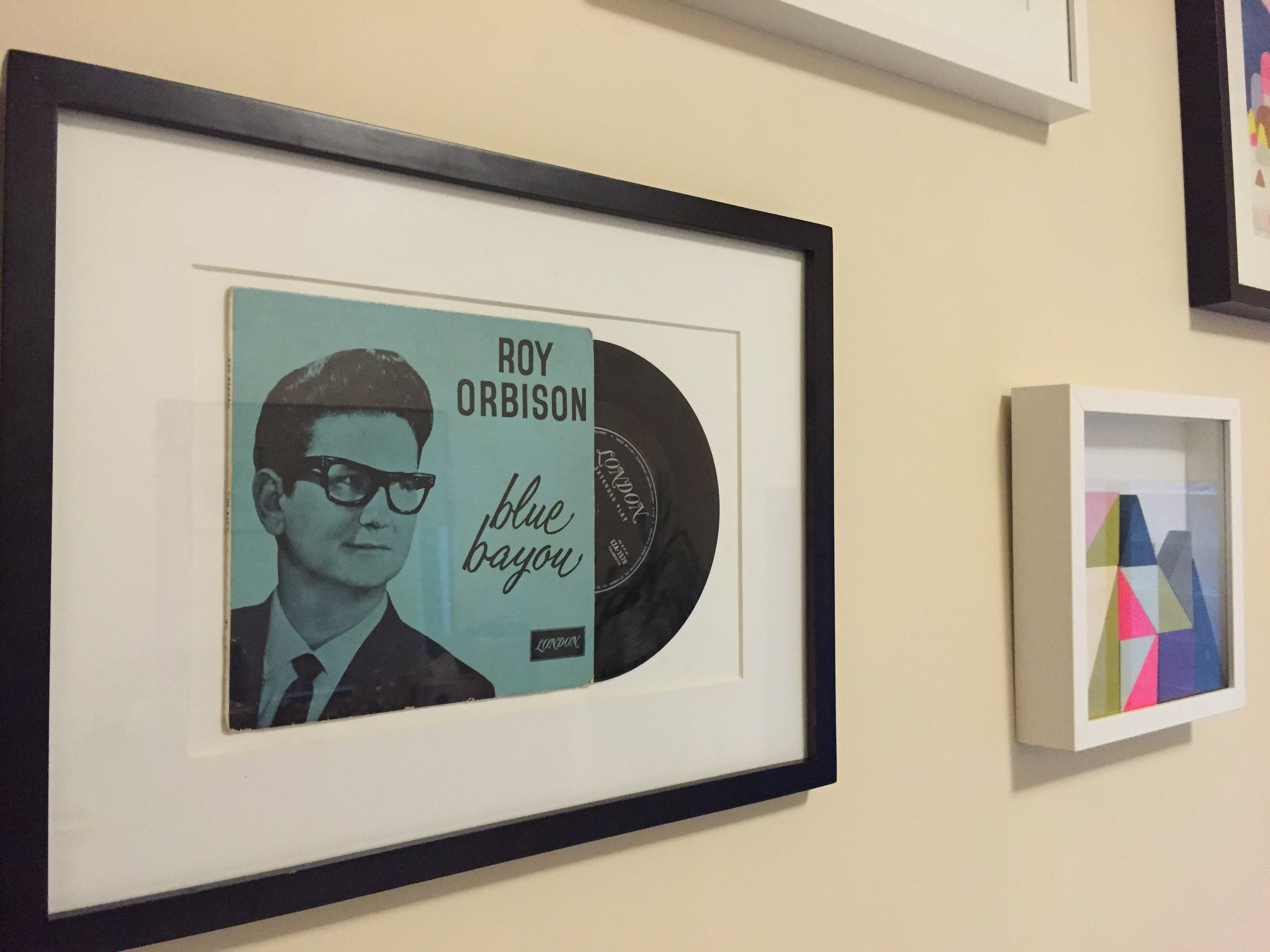 Up close of the Roy Orbison DIY artwork.