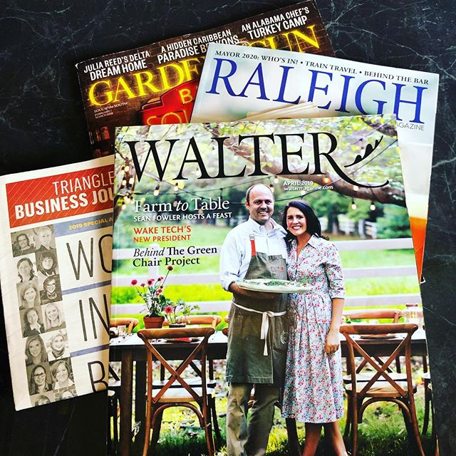 Great to see our friend @chefseanfowler on the cover of this month's @waltermagazine .  Can't wait to check out a farm dinner @mandolinfarm