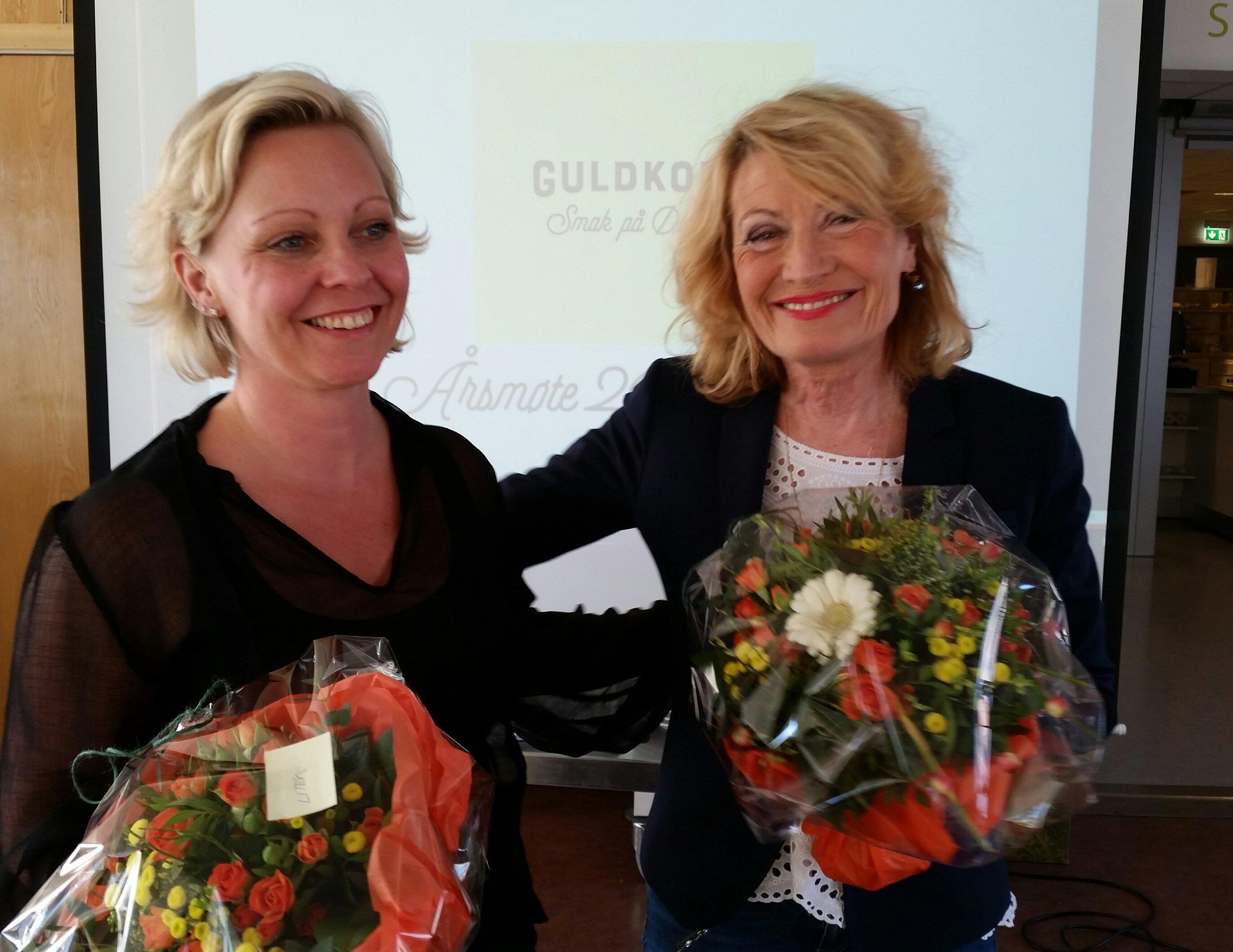 Ny styreleder Frederikke Stensrød til venstre og avtroppende leder Hanne R. E. Wiig.