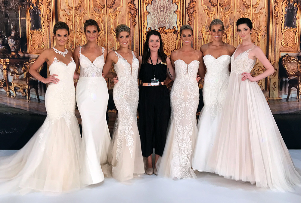 Blanche's latest collection of dresses on the runway!