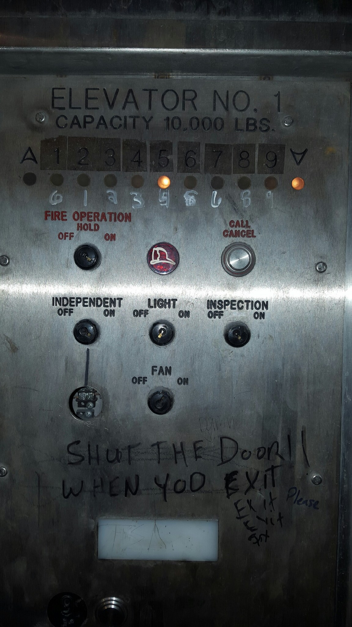 Elevator Vandalism Can Be Expensive!