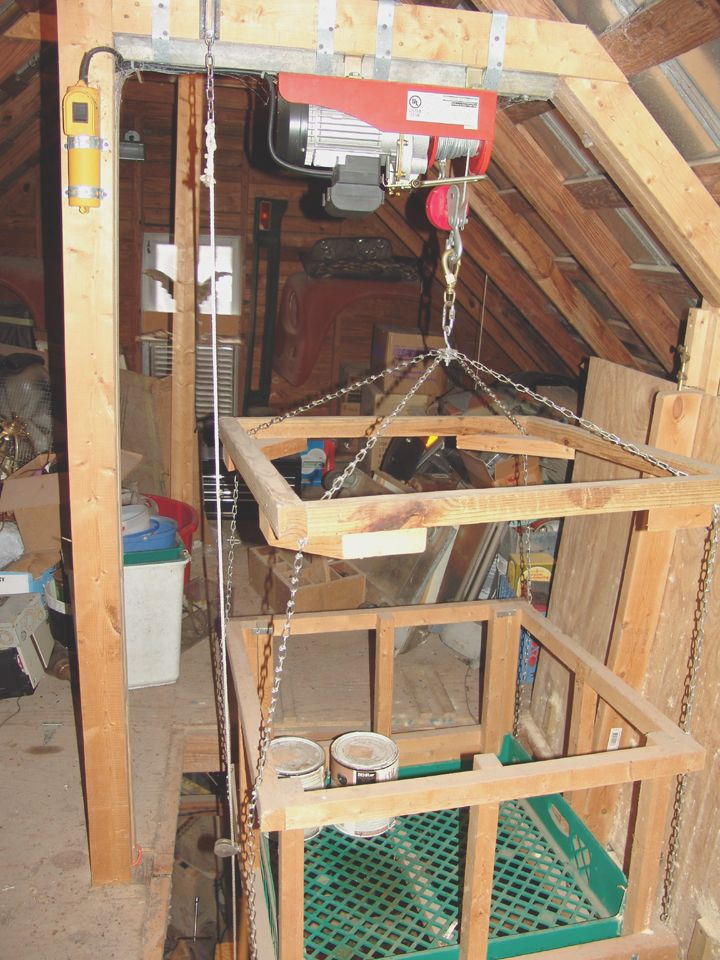 Never attempt to build or install a homemade elevator lifting device no matter who on Pintrest says it's easy and safe. These are dangerous and could very well kill you or a family member. You have been warned.