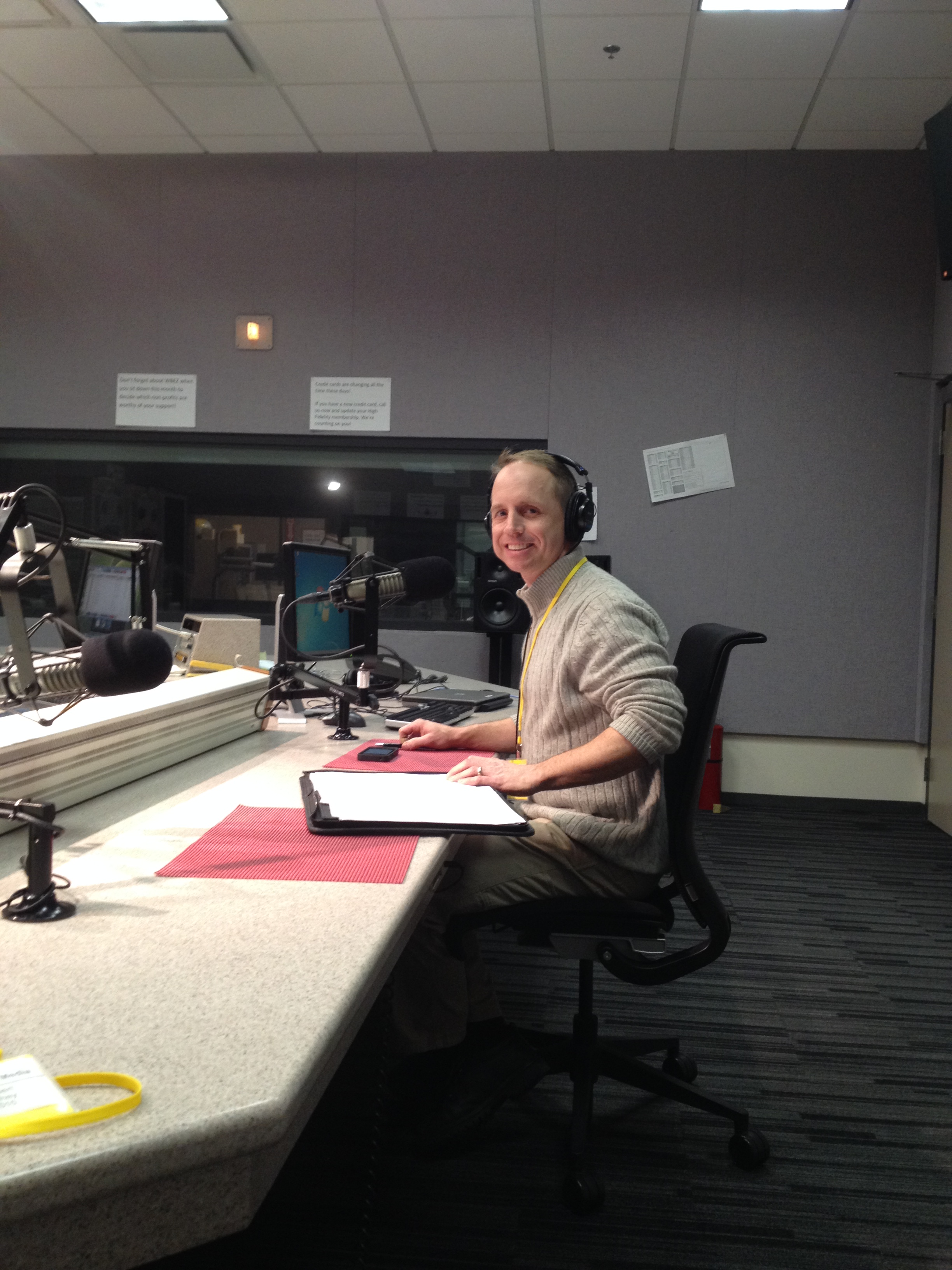 Tom Sybert - Being Interviewed on Innovation Hub at WBEZ NPR in Chicago.