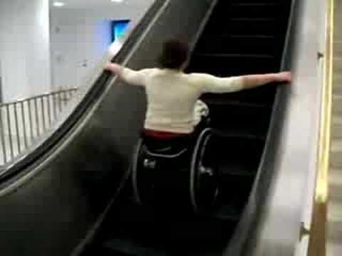 !!!!Never attempt to ride an escalator in a wheelchair!!! INJURY AND OR DEATH WILL OCCUR!