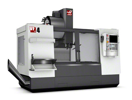 HAAS VF4 Machining Center - 20 HP Motor, High speed Axis Drives, Rigid Tapping and 20-Station Tool Changer. Haas dual 5c indexer available for use