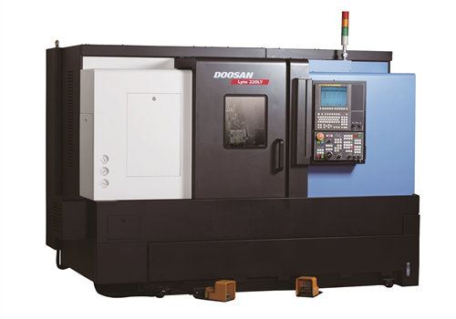 "Doosan LYNX 220LYA - Single Spindle with full Y-Axis. Main Spindle has 16-C collet chuck, and a 6""chuck. Programmable tail stock. LNS quick-load 65 magazine bar feeder. 2.4bar capacity"