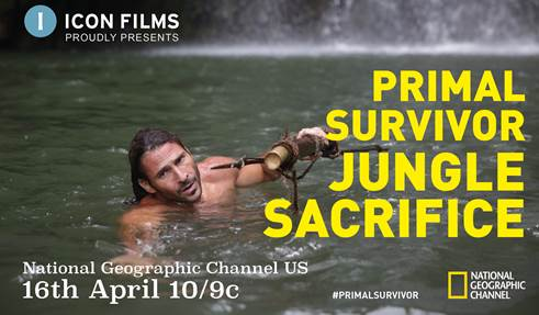 "The new series of  Primal Survivor  will have its US premiere broadcast at 10/9c on  Sunday 16 April  on  National Geographic Channels  with   ""Jungle Sacrifice""             The series will have its  UK premiere  on  Monday 29 May 2017  at  9 PM  on  National Geographic Channel UK,  also beginning with  ""Jungle Sacrifice"""