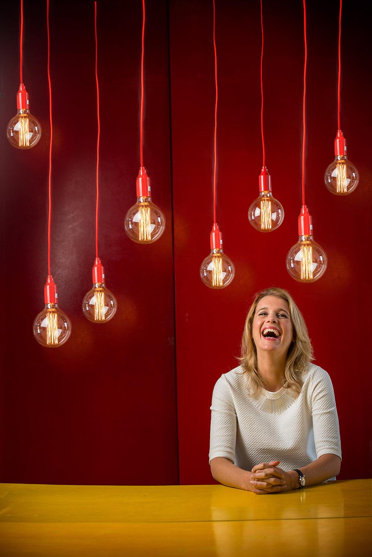 Prof Danielle George - lightbulbs Credit Paul Wilkinson.JPG