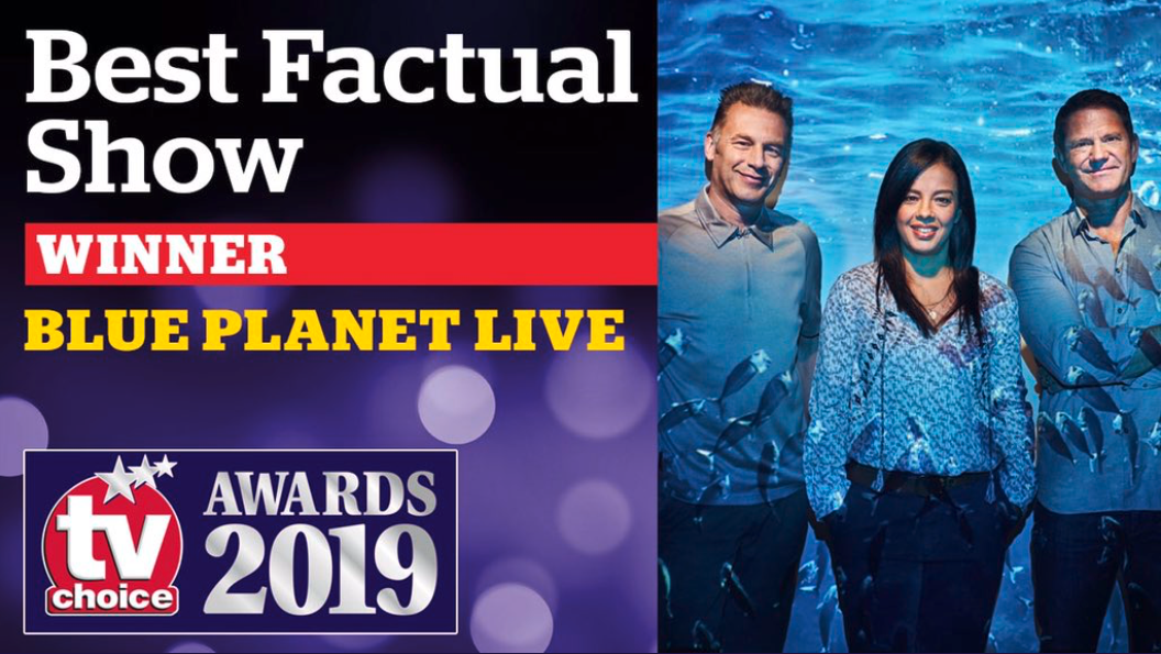 The award for Best Factual Show goes to Blue Planet Live. Congratulations to our clients Steve Backshall and Liz Bonnin.