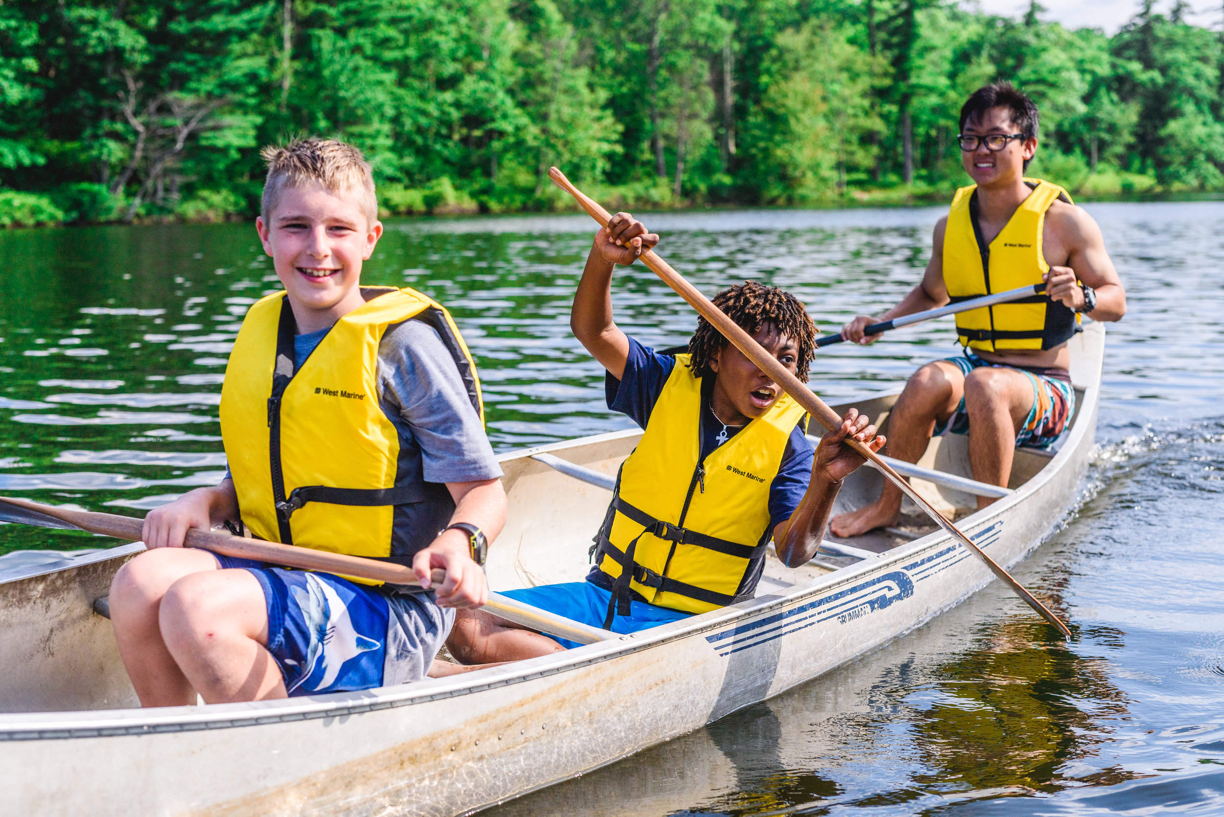 Campers with Autism -
