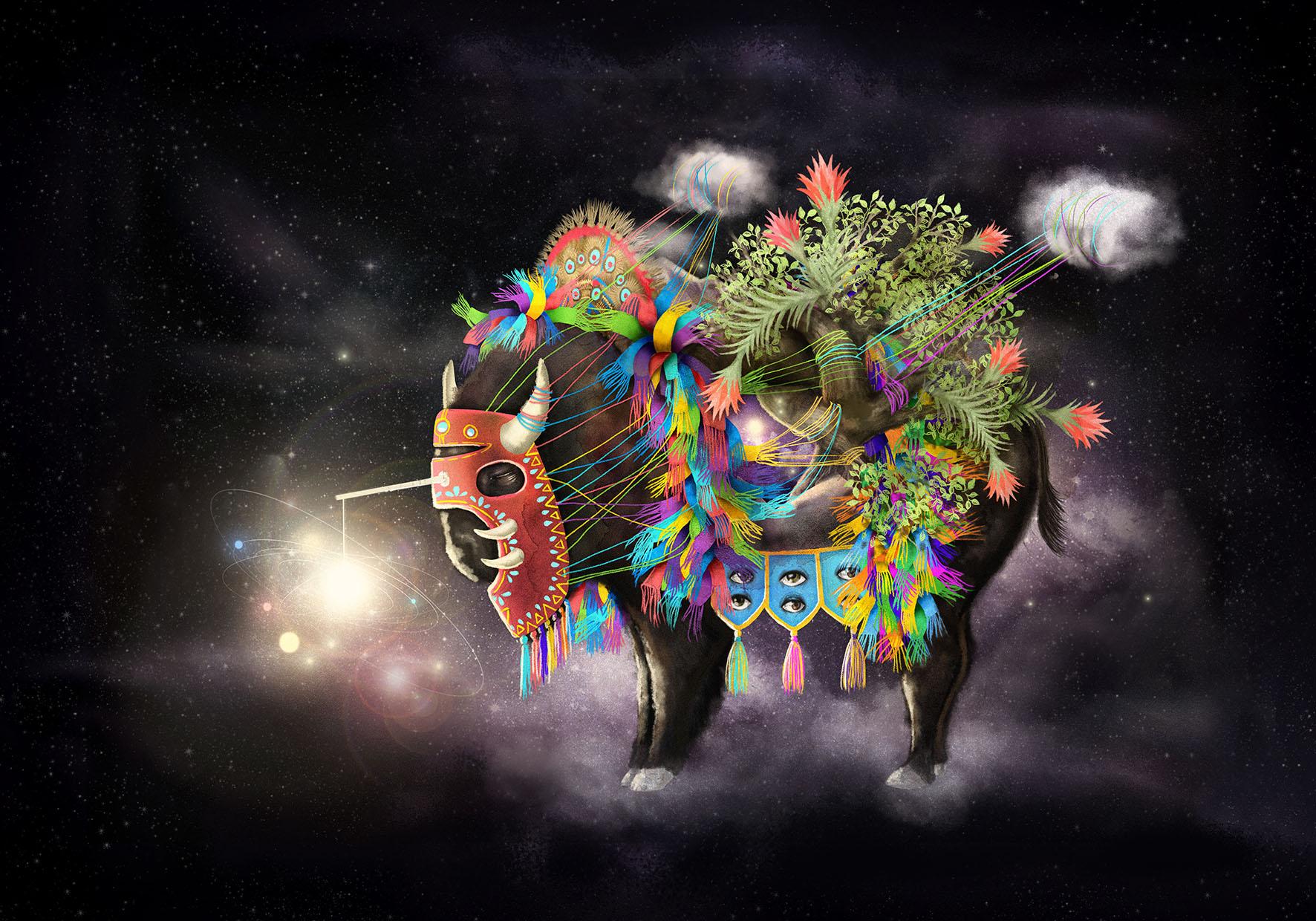 Abyssal beast. Digital illustration