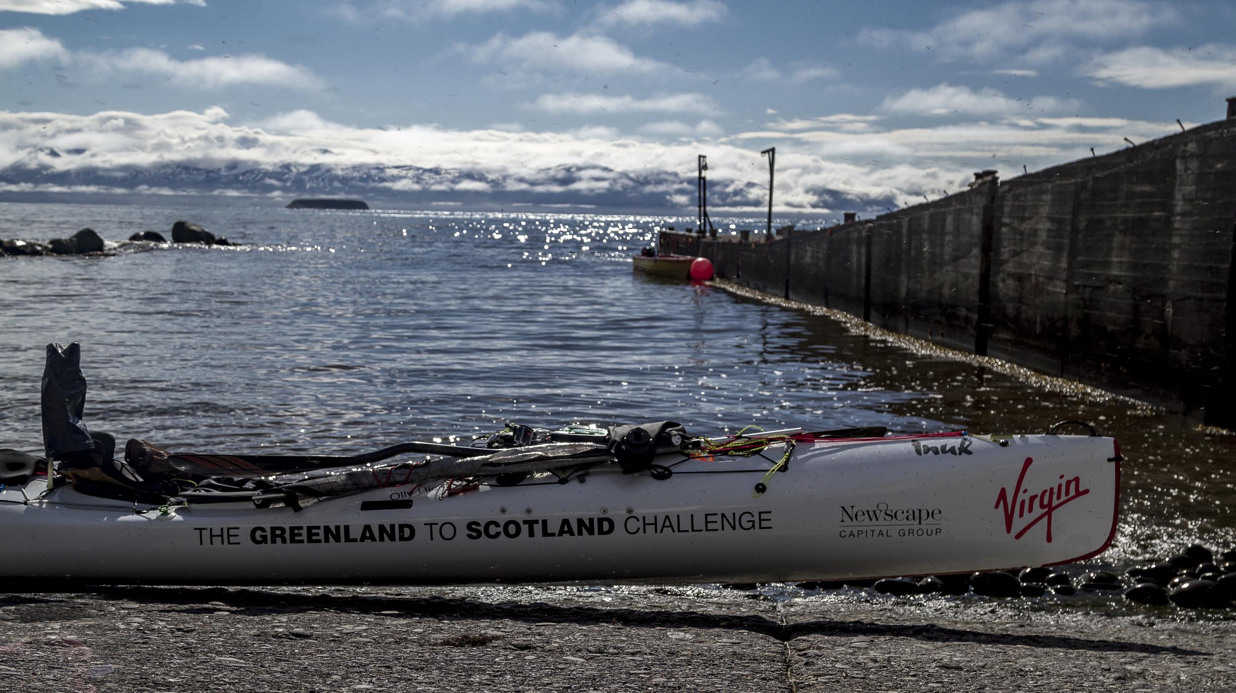 The kayak in Husavick