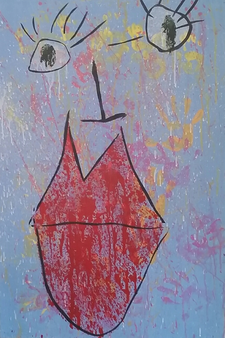 """Two Lips (36""""x24"""")"""
