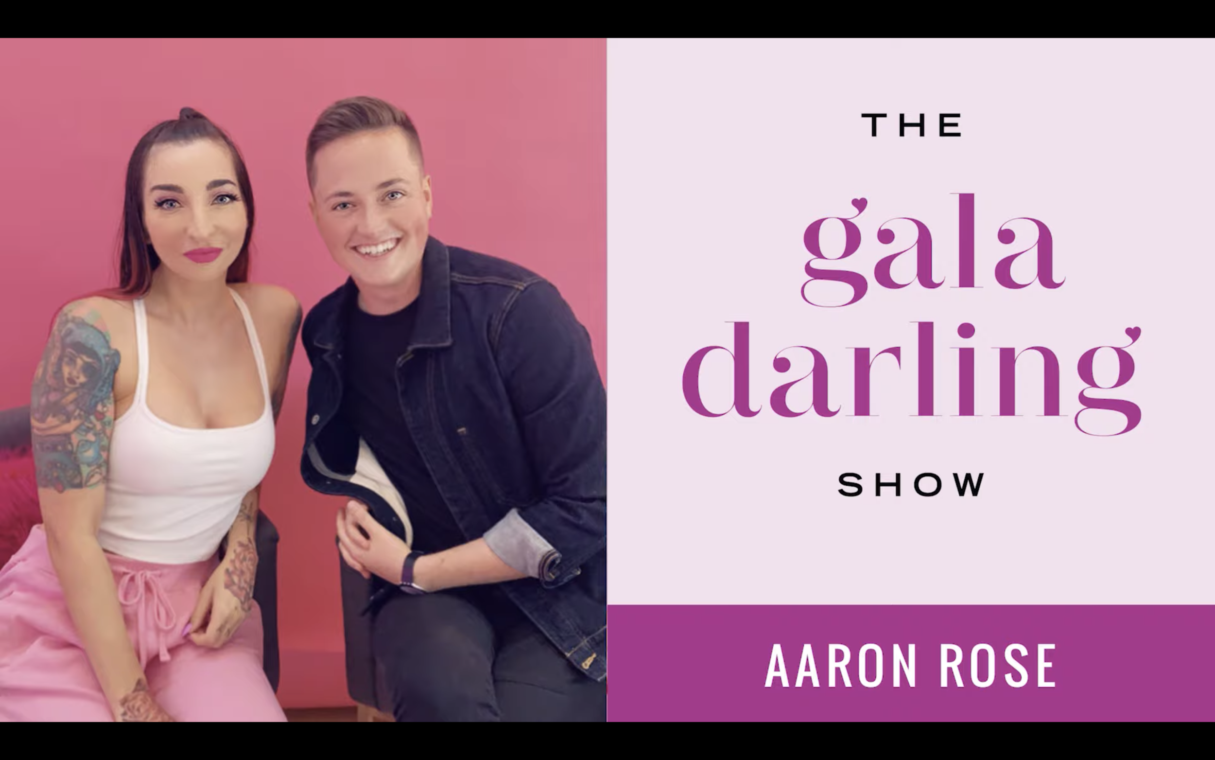 "The Gala Darling Show - ""It was such a DEEP pleasure to sit and talk with Aaron Rose about changing our frequency, cancel culture, creating the world we want to live in, and so much more. We hope you enjoy it!"""