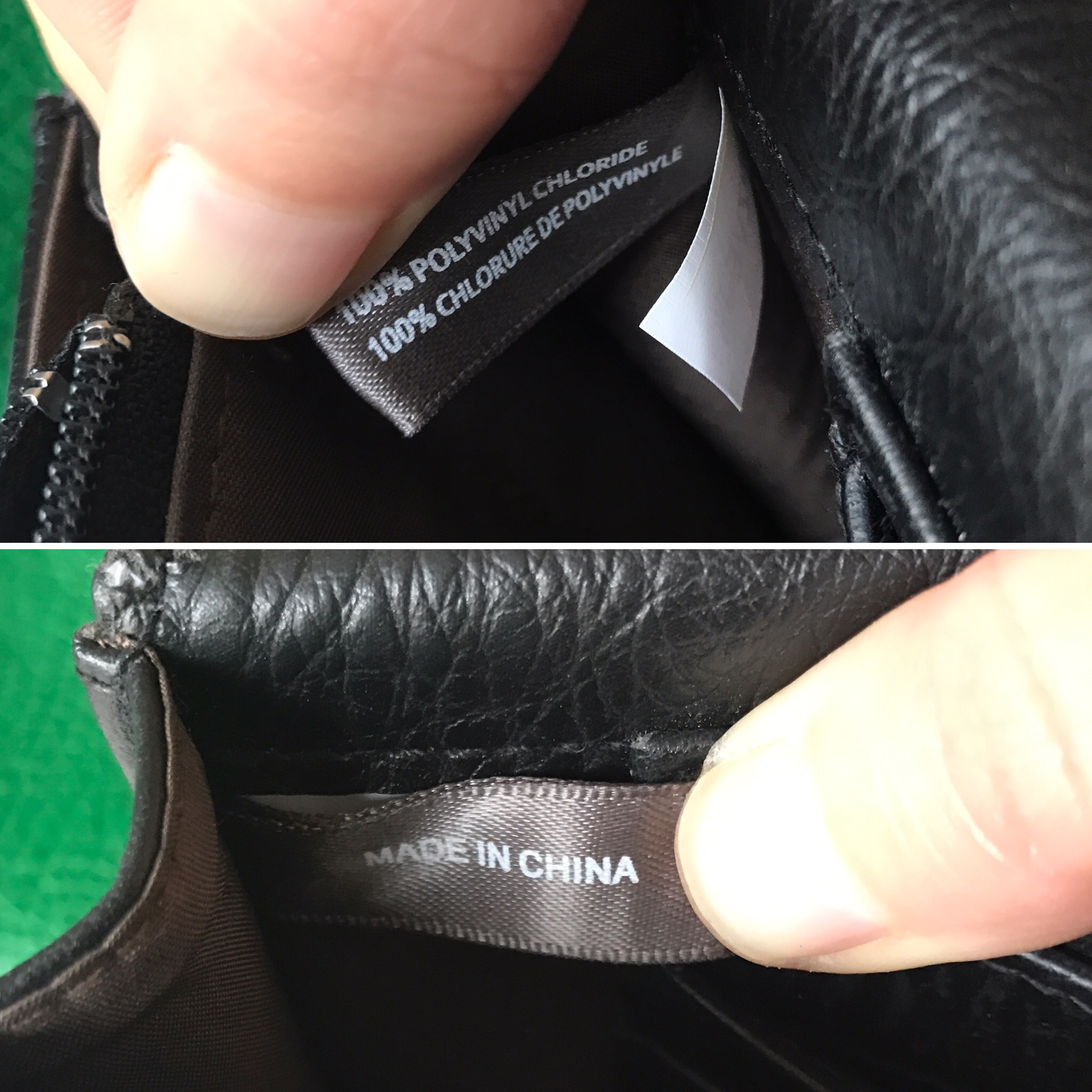 Check out the tags on my Matt & Nat clutch. :(